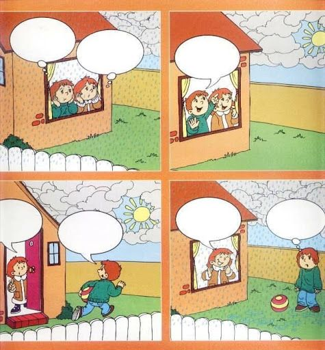 Autismus Arbeitsmaterial: Sagenblasen