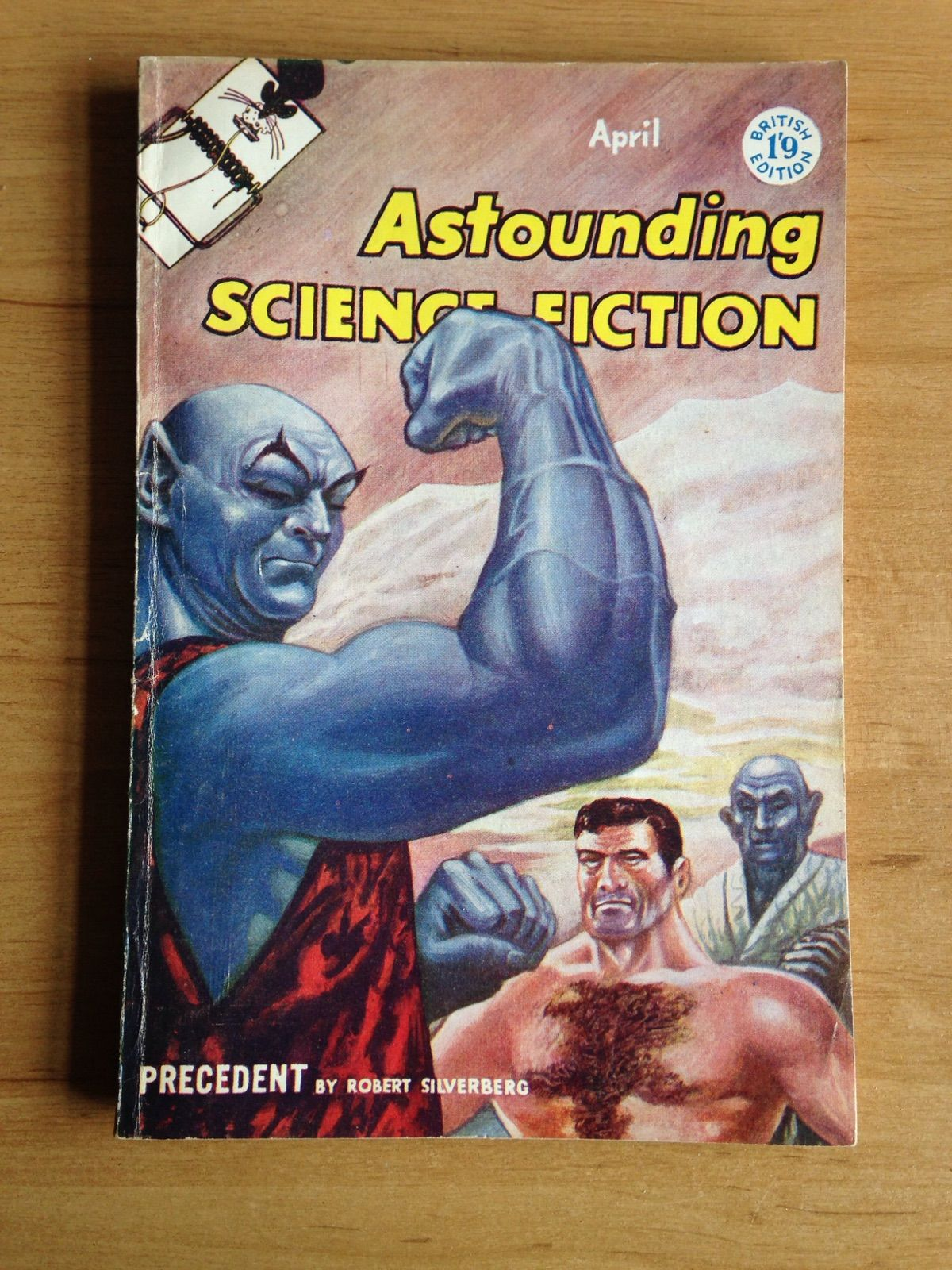 Astounding Science Fiction Pulp Magazine April 1958 An attractive copy of one of the great vintage Science Fiction pulp magazines from April 1958 with stories by Robert Silverberg & Robert E. Heinlein amongst others. British Edition. Slight wear & slight creasing to spine, covers & corners.   https://nemb.ly/p/HyA5r5hex Happily published via Nembol