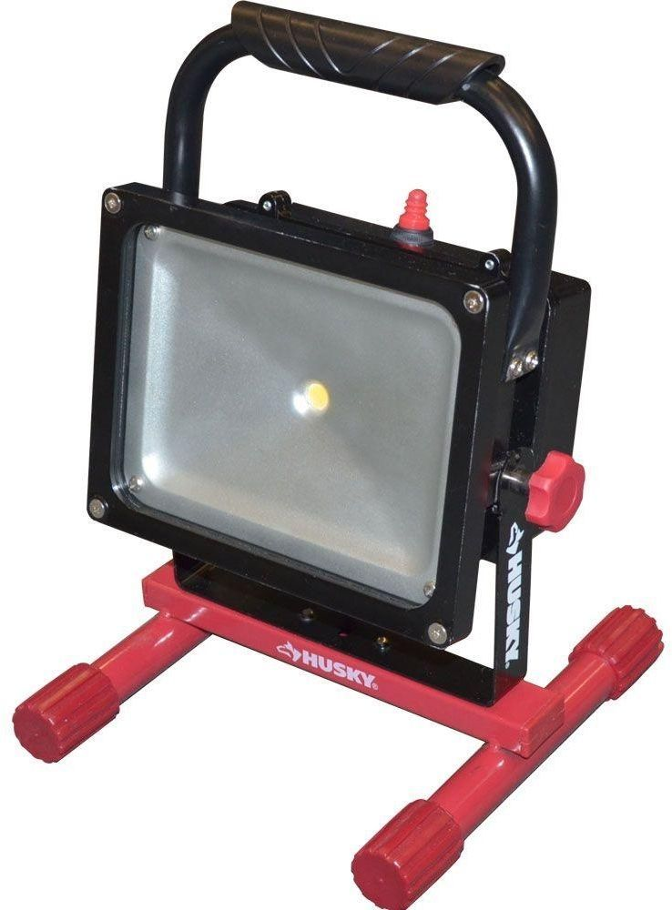 Husky rechargeable 1000 lumen 25 watt led job site indooroutdoor husky rechargeable 1000 lumen 25 watt led job site indooroutdoor work light aloadofball Image collections