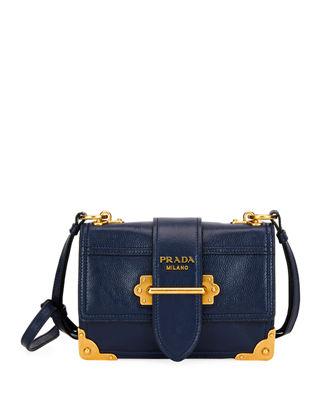 2b5f11a0a381 Prada Glace Calf Soft Cahier Shoulder Bag | Products | Shoulder bag ...