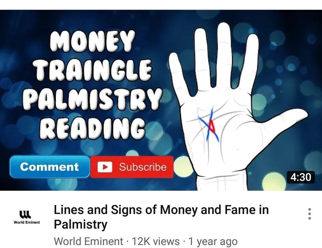 Money triangle palmistry   Palmistry - Learn Palm Reading