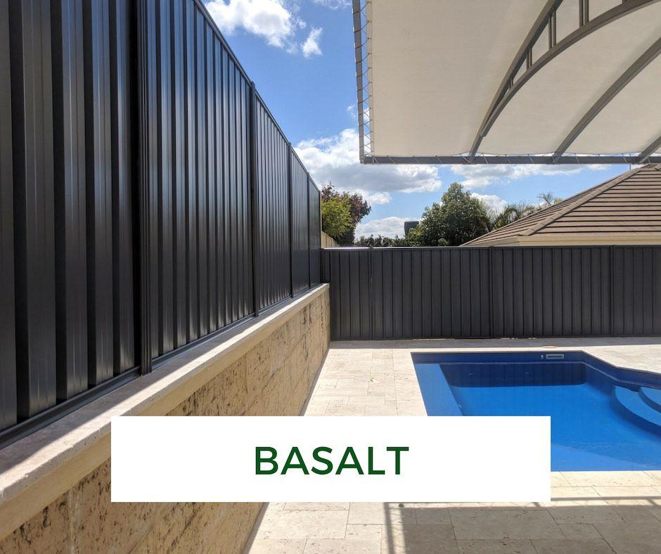 Colorbond Fence In Basalt Garden Fence Panels Fence Paint Backyard