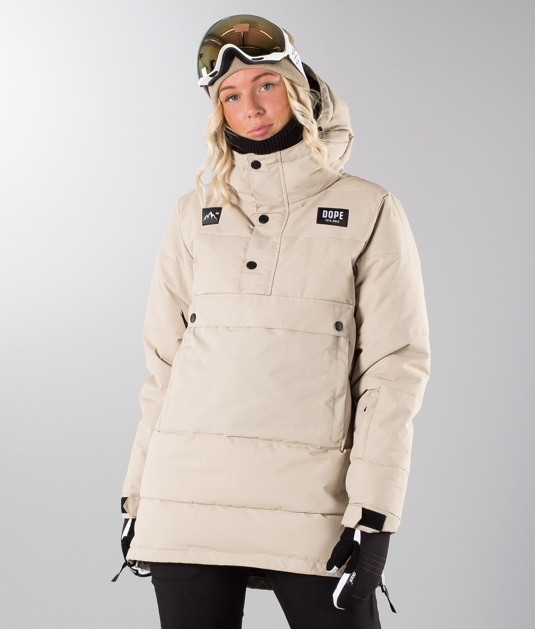 3833222e07c1 Dope Puffer W Snowboard Jacket Sand