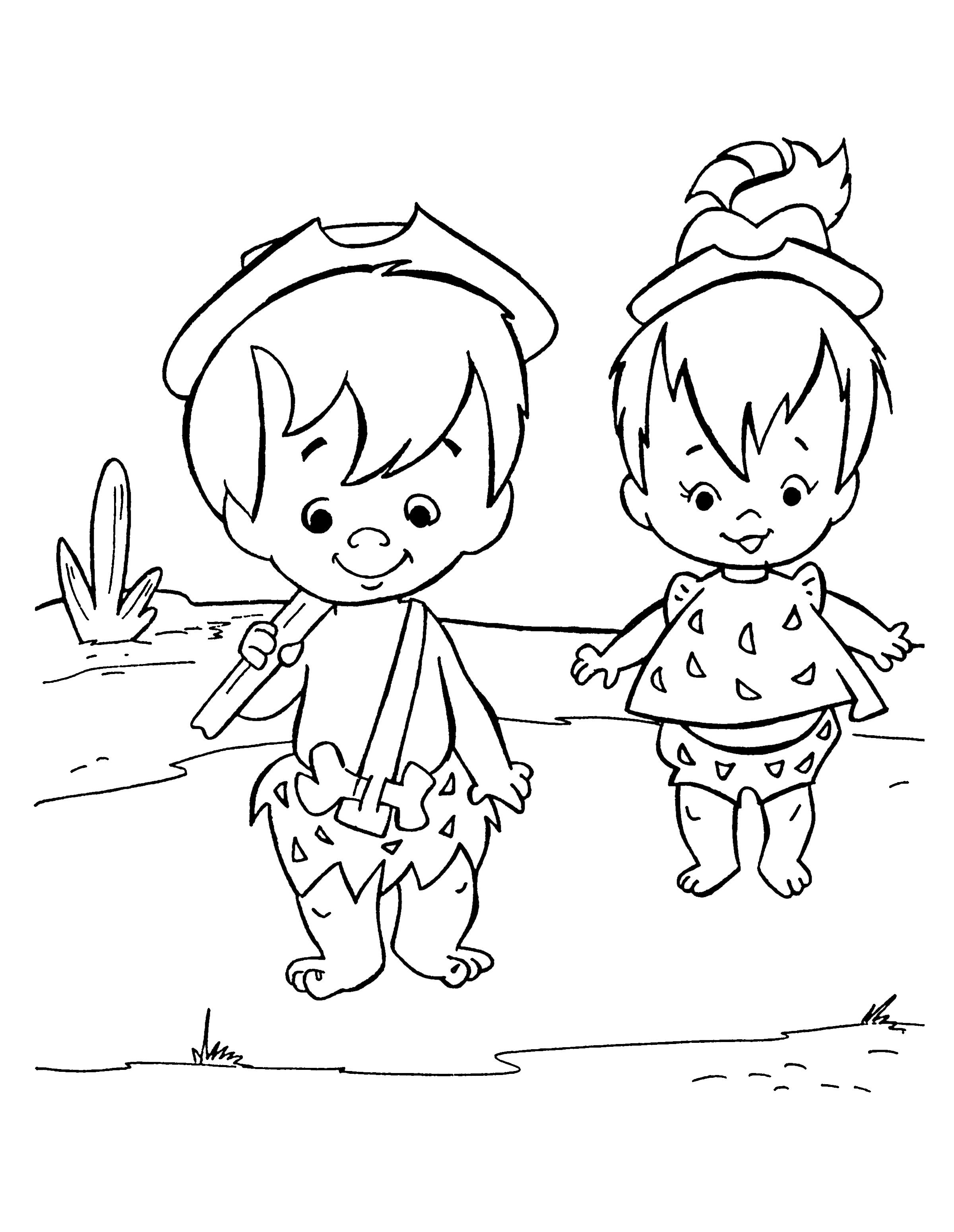 The Flintstones Coloring Pages 32 | Coloring pages for kids ...