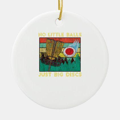 Retro Adult Disc Golf Humor Basket Chains Disc Gol Ceramic Ornament | Zazzle.com