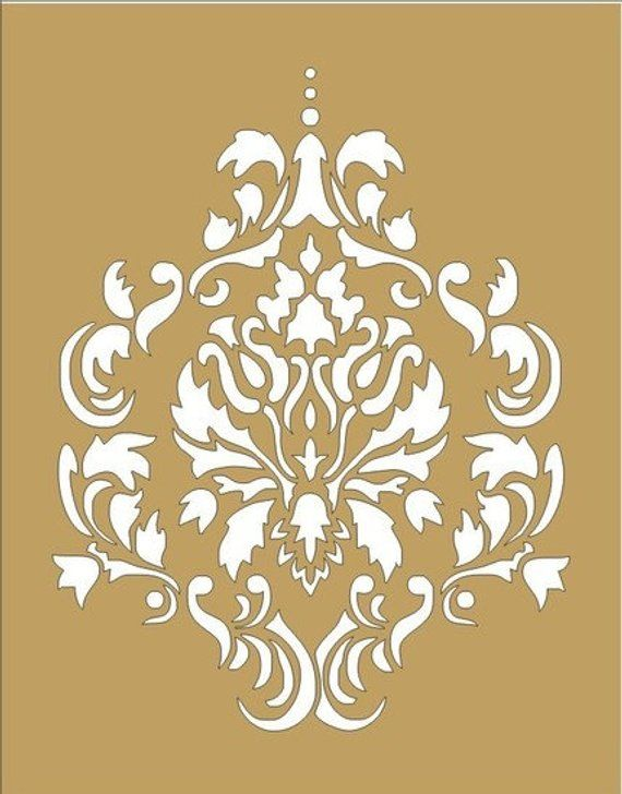 damask reusable stencils damask design 5 available in 16 sizes
