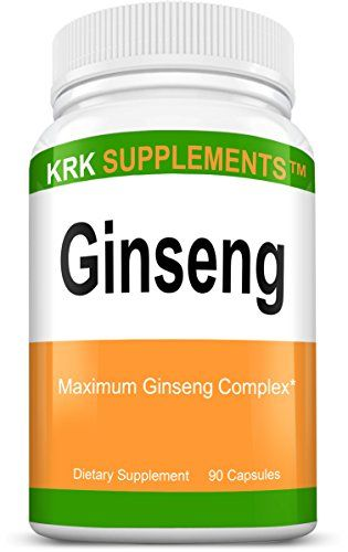 1 Bottle Ginseng Per Serving Panax Eleutherococcus Senticosus Extract Korean 90 Capsules KRK Supplements ON SALE Check It Out