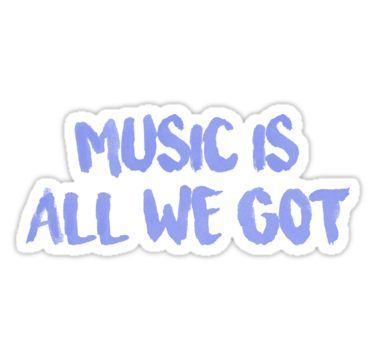 All We Got Chance The Rapper Lyric Sticker By Jamie Malone