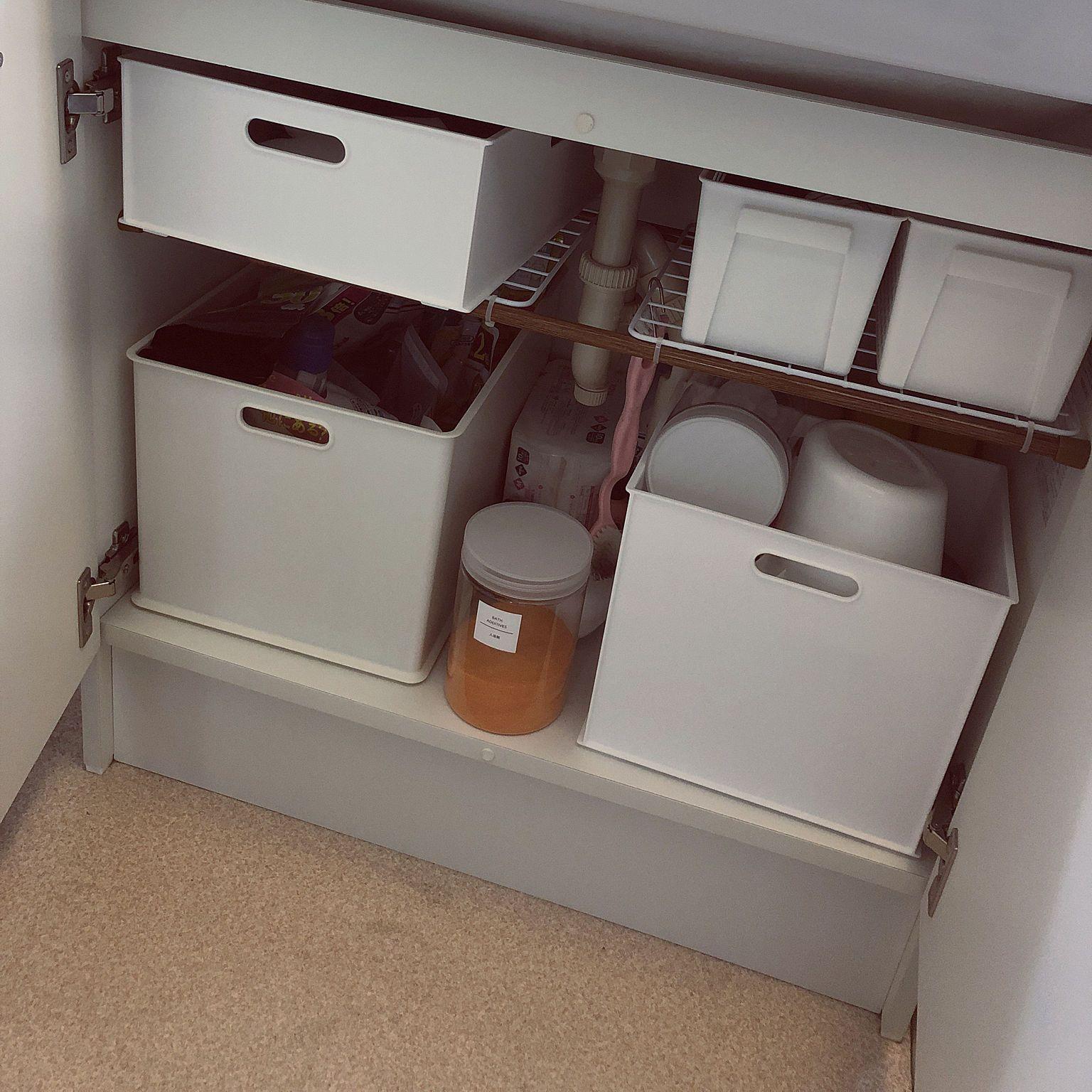 バス トイレ 洗面台の下収納 賃貸 3ldk ニトリ などのインテリア実例 2019 02 21 17 42 11 Roomclip ルームクリップ 賃貸 収納 洗面台 トイレ 洗面台