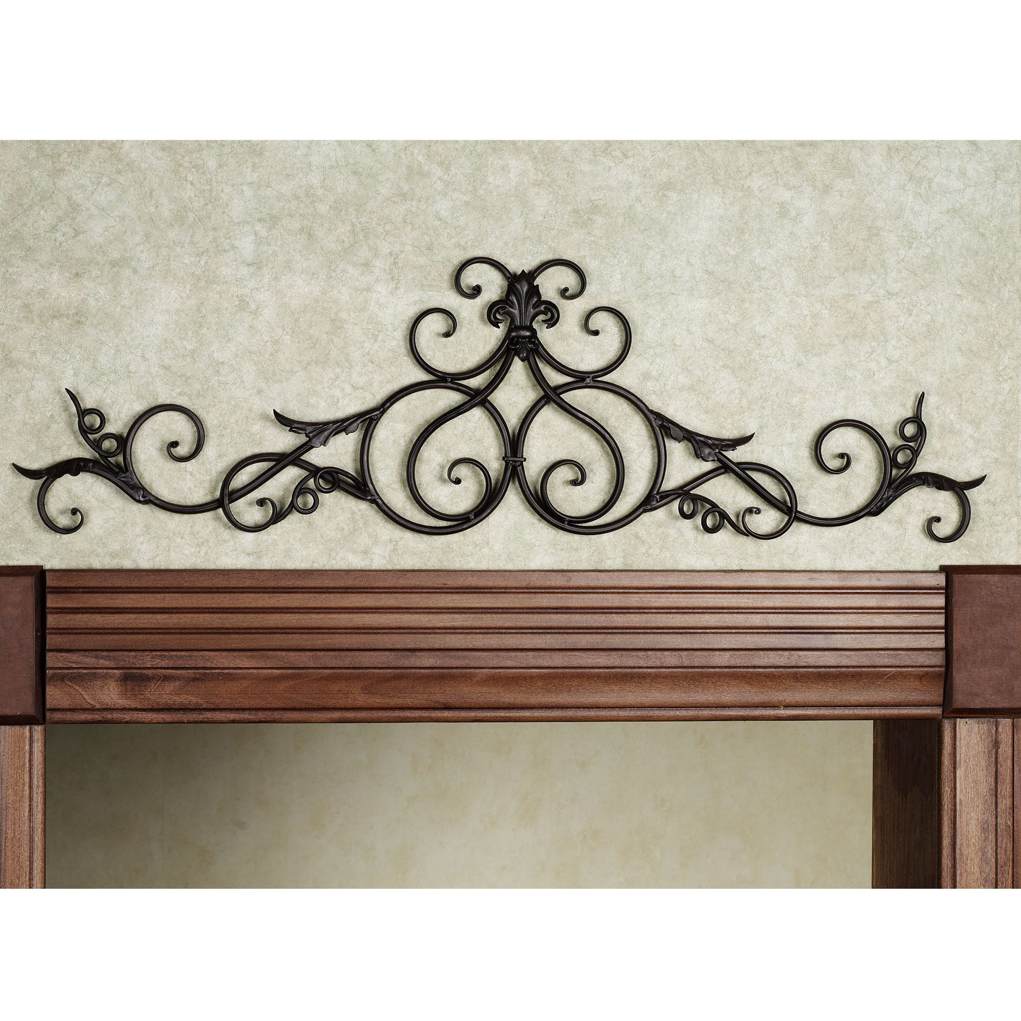 Iron Scroll Wall Decor In 2020 With Images Wrought Iron Wall