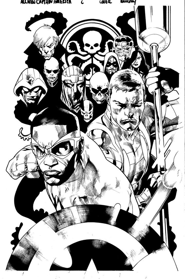All New Captain America Cover By Stuart Immonen Inks By
