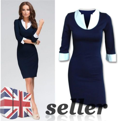 Uk xmas #ladies casual #bodycon #v-neck business work career wear pencil dresse t,  View more on the LINK: http://www.zeppy.io/product/gb/2/221818471413/