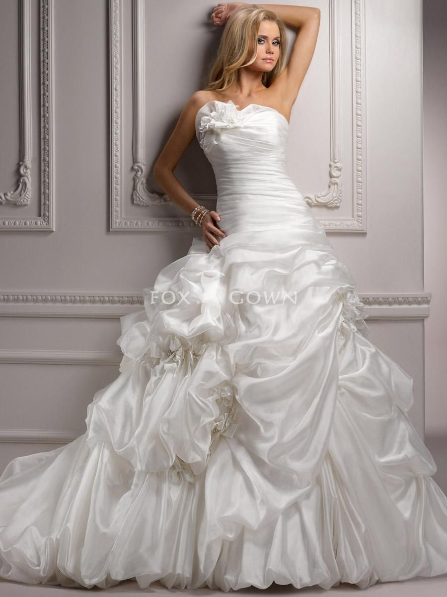 strapless ruched bodice organza ball gown with beaded neckline