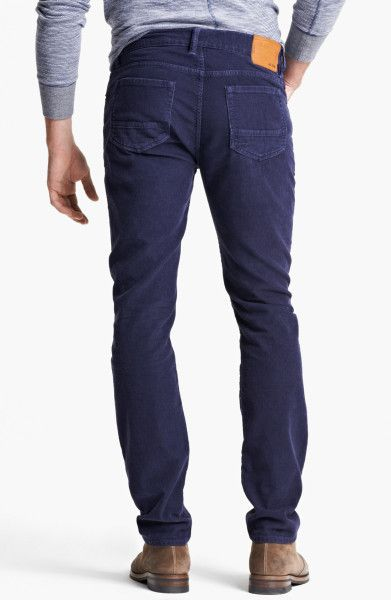 dark blue corduroy pants - Pi Pants