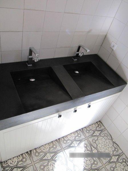 double vasque   vasque lavoir béton coulé bfuhp Ductal   Pinterest ...