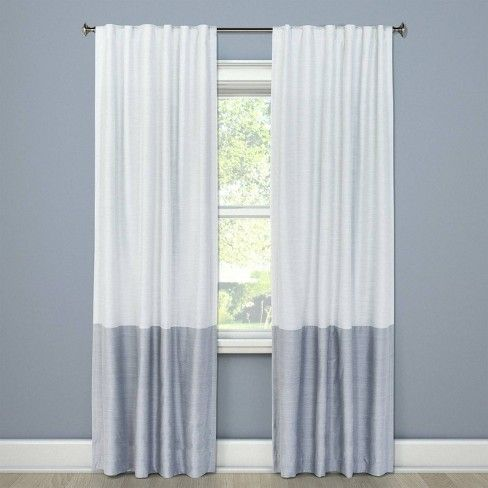 Blackout Curtain Panel Color Block Gray 95 Project 62 With