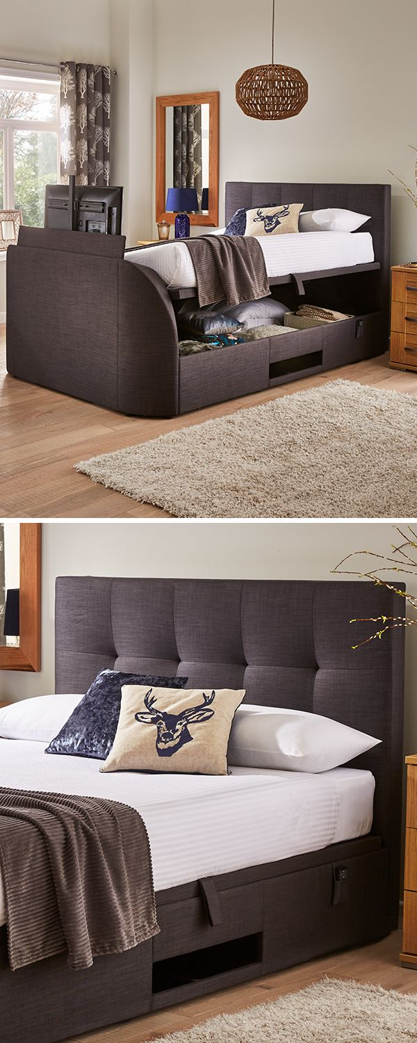 Amazing The Evolution Ottoman Tv Bed Has A Contemporary Design That Andrewgaddart Wooden Chair Designs For Living Room Andrewgaddartcom
