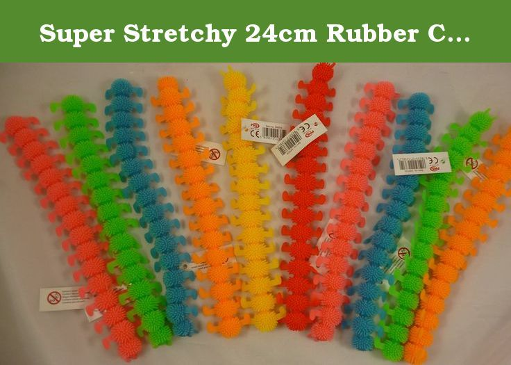 Party Bag Toys 1 Picked At Random Super Stretchy 24cm Rubber Caterpillar