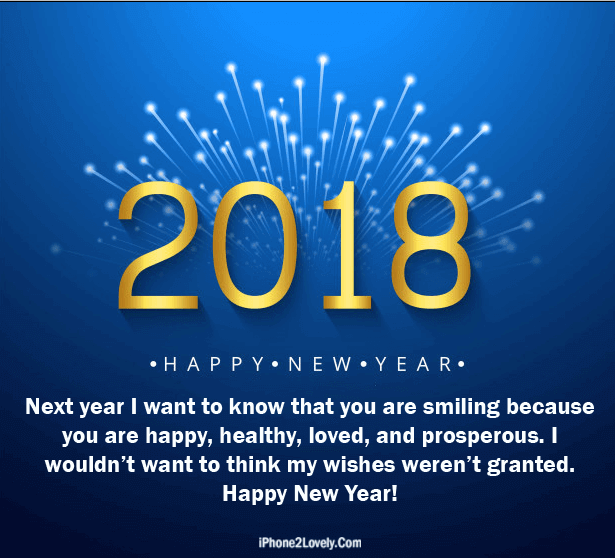Romantic Things To Do On New Years Eve: 3D Style Happy New Year 2018 Love Quote Image