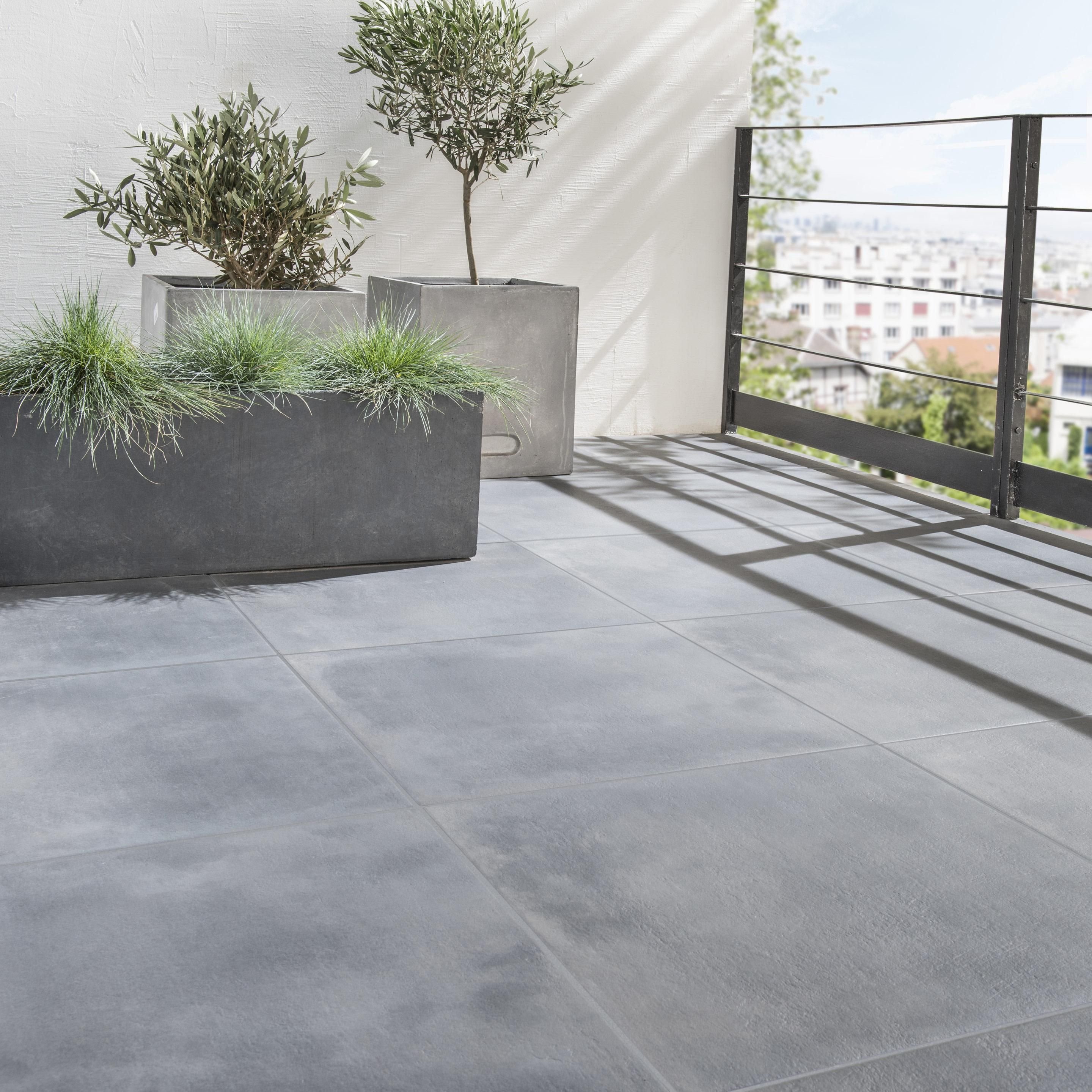 Carrelage Sol Et Mur Exterieur Forte Pierre Noir Dolce Vita L 60 X L 60 Cm Arten In 2020