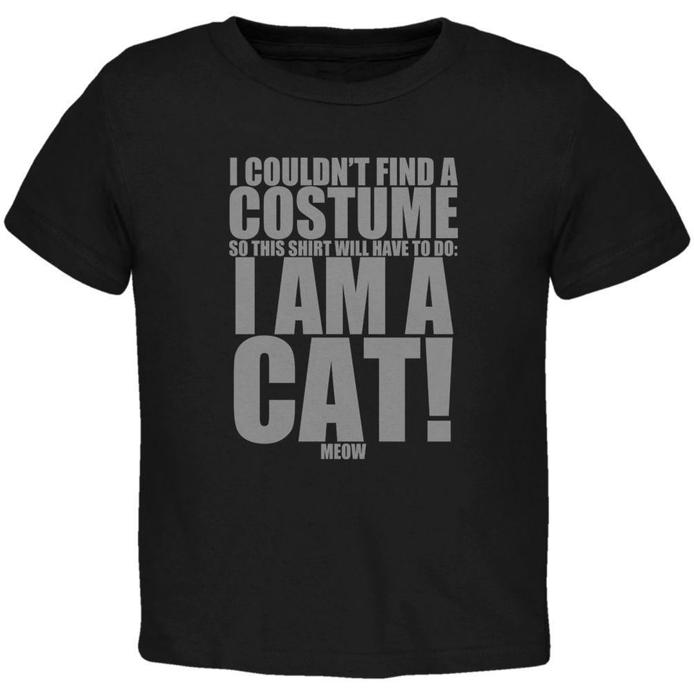 Halloween Cheap Cat Costume Black Toddler T Shirt
