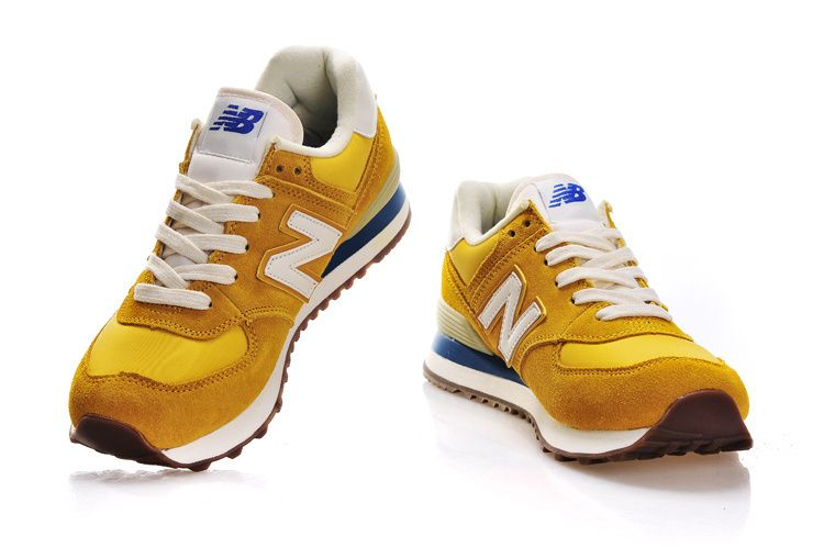 new balance 574 yellow men
