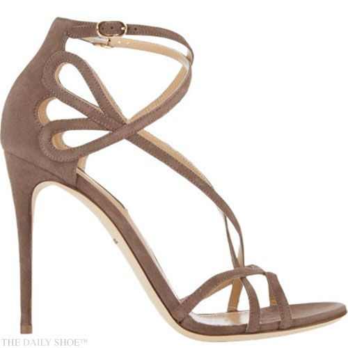 Dolce and Gabbana : 'Keira' cutout criss-cross straps sandals