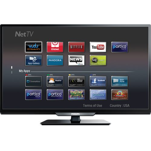 "Philips 40"" 1080p 60Hz LED Smart TV (40PFL4909/F7) To"