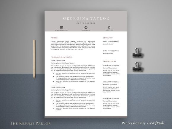nice Resume Template 4 Page Artist CV CreativeWork247 - Fonts - amazing resume template