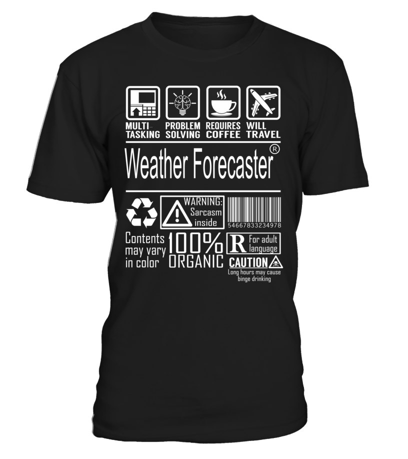 Weather Forecaster Multitasking Job Title T-Shirt #WeatherForecaster