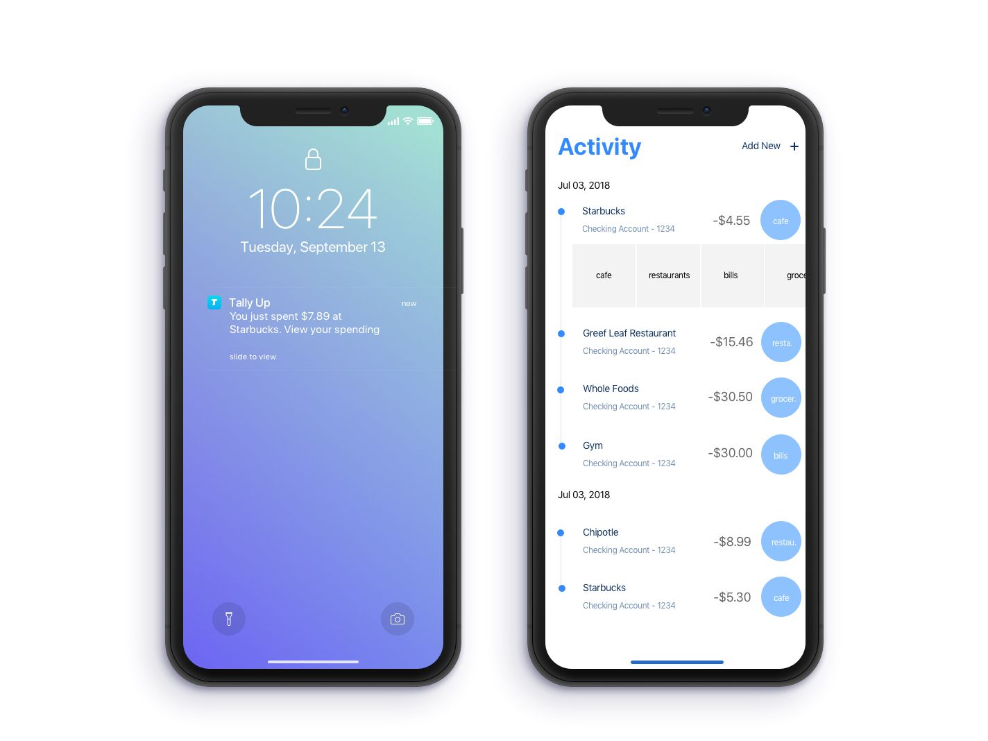 Tally Up Your Spending App Concept