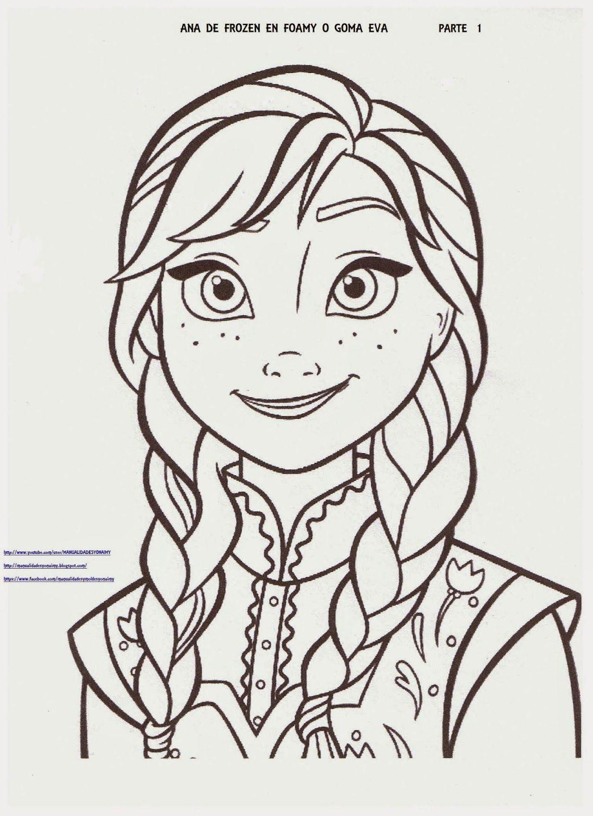 Manualidades Yonaimy Princesas Disney Dibujos Ana De Frozen Frozen Para Dibujar