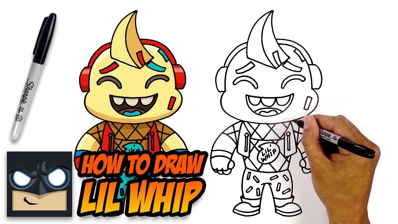 How To Draw Lil Whip Fortnite Step By Step Tutorial With