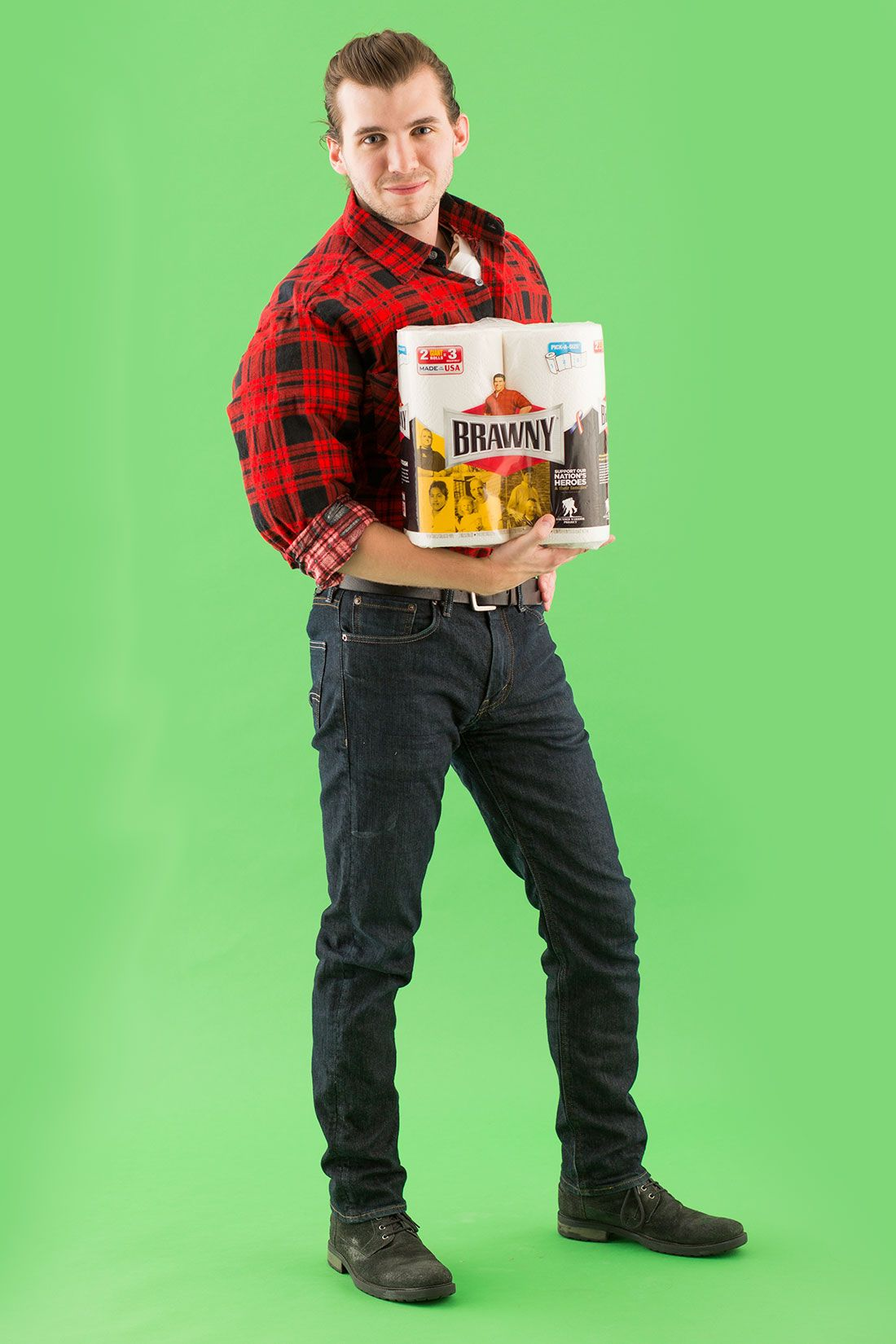 All you really need is a flannel shirt to turn into the brawny man pick up a red flannel at your local thrift store to dress as the brawny man solutioingenieria Images