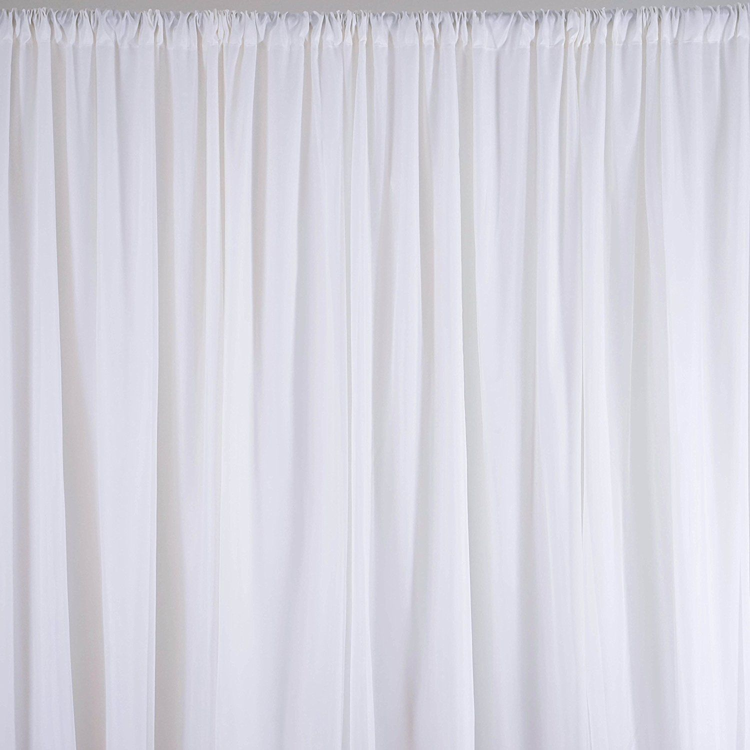 Doolova 10x10 Ft Fabric Backdrop Curtain Background For