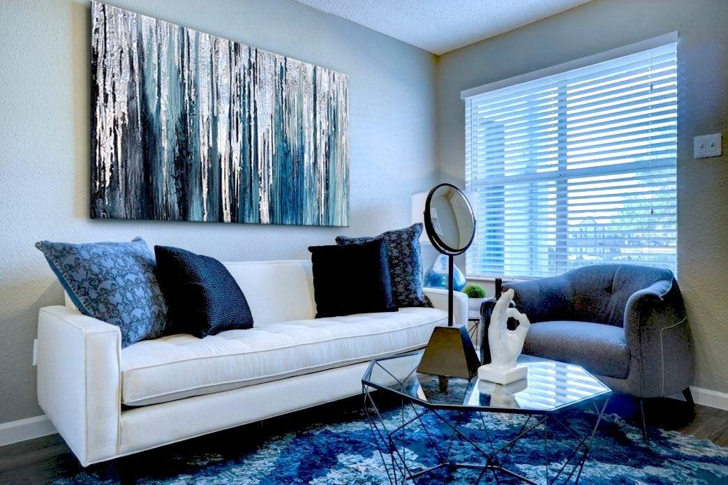 Silver Blue Art Silver Leaf Art Original Abstract Art Modern Etsy Teal Wall Art Glitter Wall Art Living Room Art #teal #wall #art #for #living #room