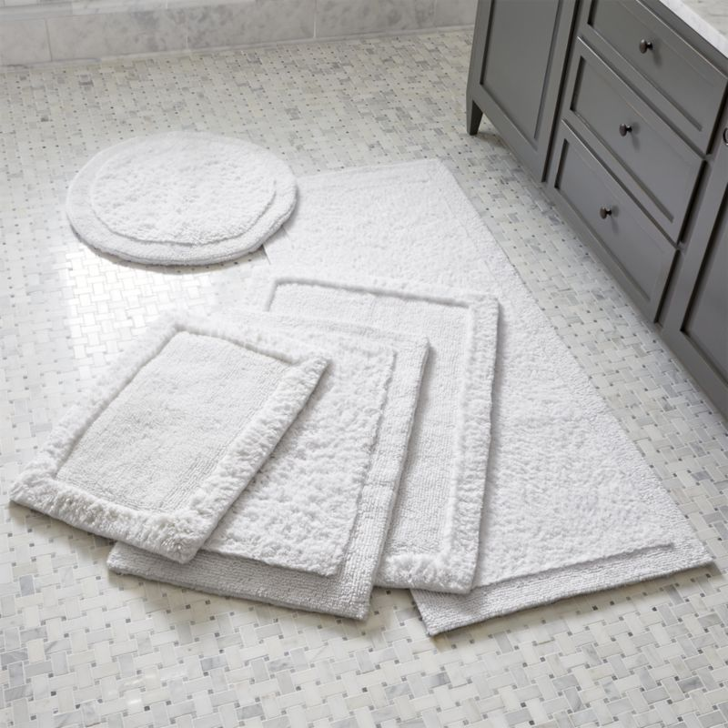 Treat Your Feet To The Plush Comfort Of Cotton Looped And Sheared Create A Super Soft Absorbent Bath Rug Rugs Are Reversible Feature Bordered