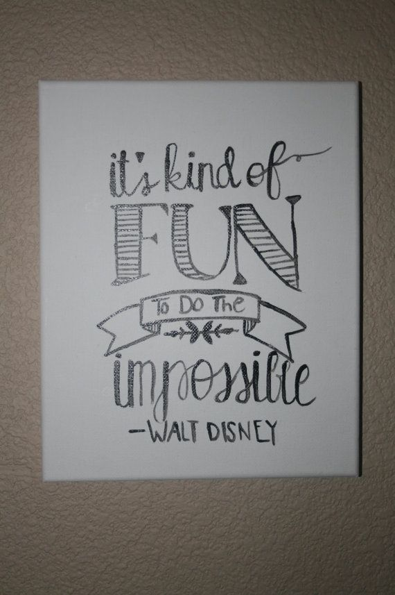 Walt Disney Canvas Art Quote by CraftsByKylieRae on Etsy