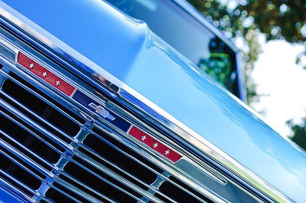 fb78371c3 1967 Chevrolet Chevelle Malibu Grille Emblem - Car photographs by Jill Reger