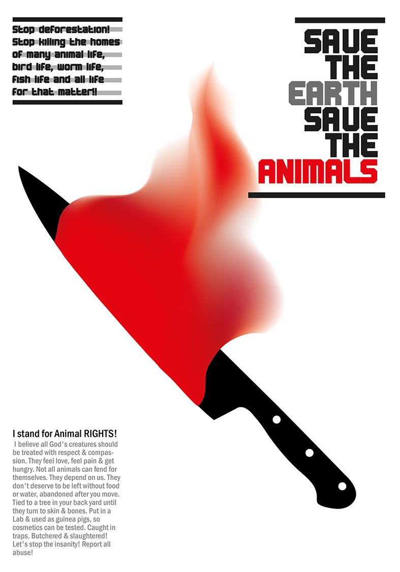 I stand for Animal RIGHTS! - Reza Zavvari 2014