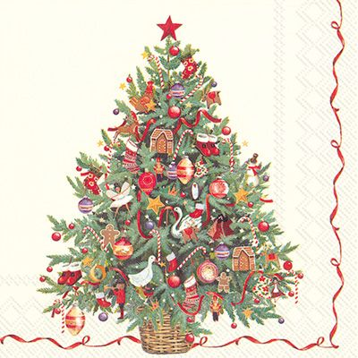 IHR Christmas Tree Printed 3-Ply Paper Luncheon Napkins Wholesale L705800