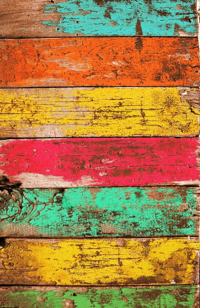 Vintage Colored Wood 3 Art Print