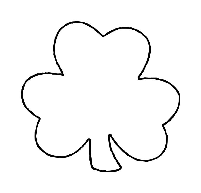 Satisfactory image within shamrock stencil printable