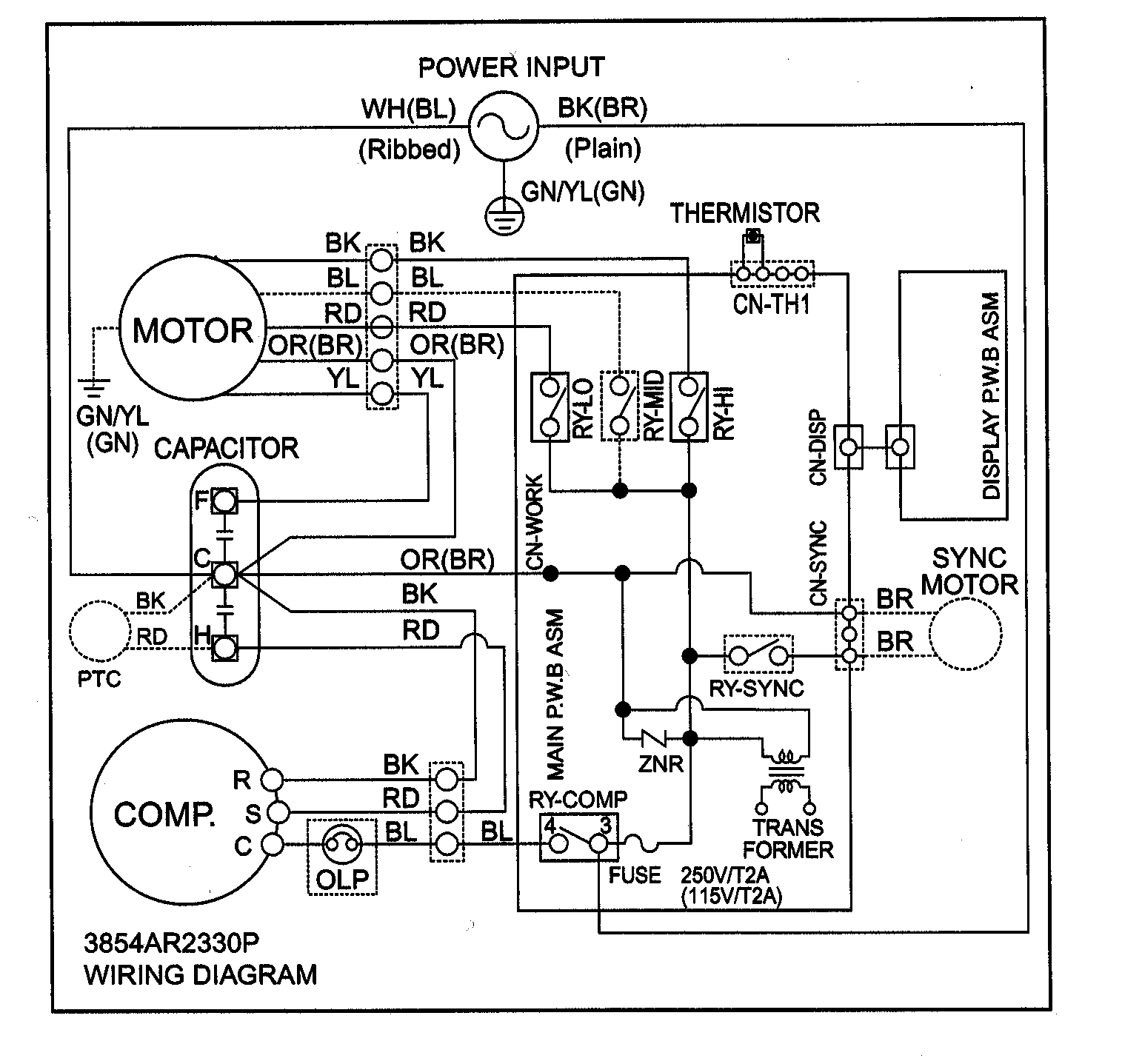 Window Ac Schematic Wiring Diagram
