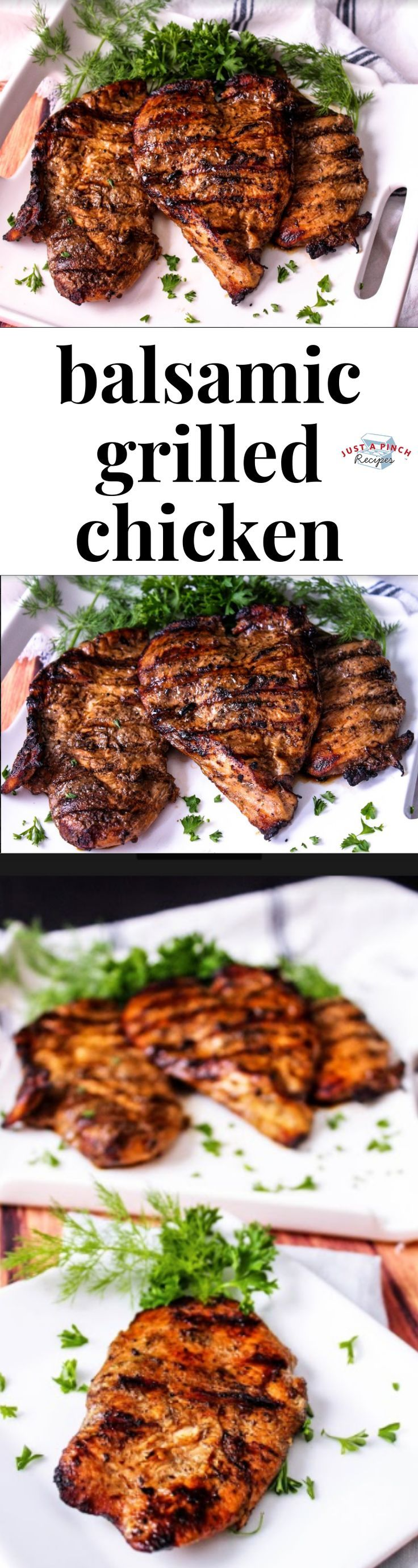 Balsamic Grilled Chicken   - Suns Out, Grills Out - Grilling Recipes