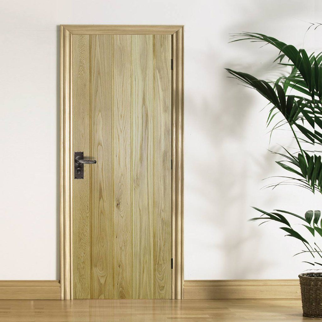 Solid Rustic Oak Button Bead Ledged Door & Solid Rustic Oak Button Bead Ledged Door   Oak doors Doors and Beads