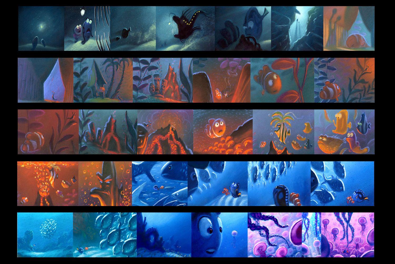 Finding nemo the art of finding nemo color script