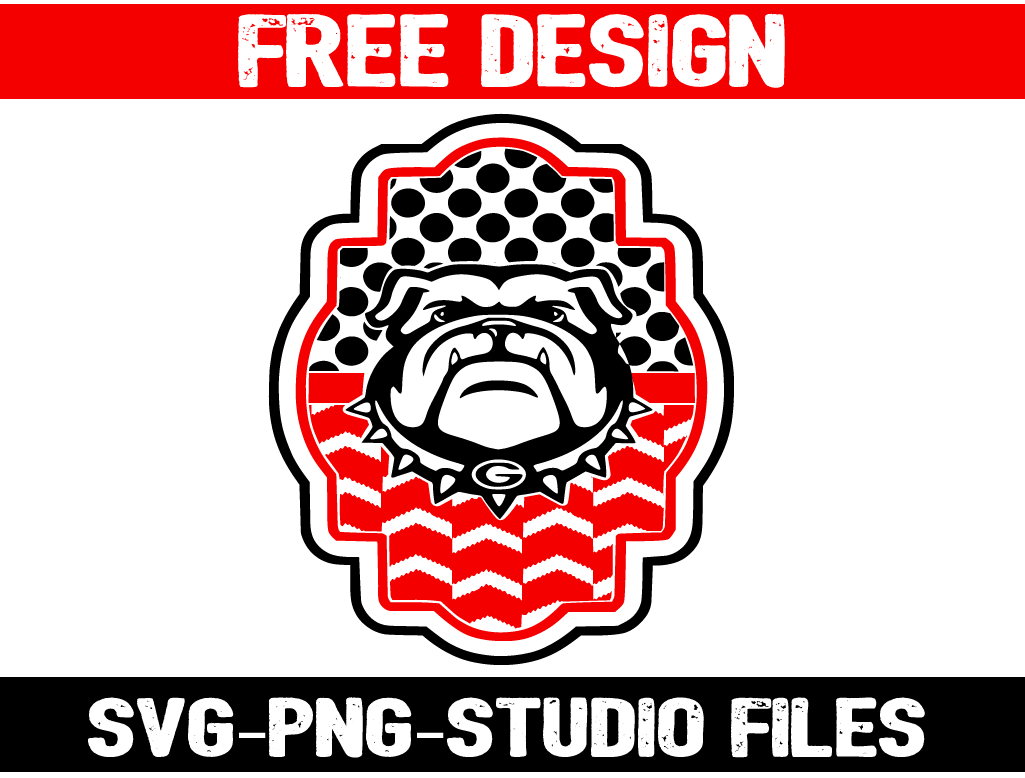 Free Georgia Bulldogs Svg File Includes Png For Printing Also Check Out Other Free Designs At Www Svguniverse Com Georgia Silhouette Projects Free Design