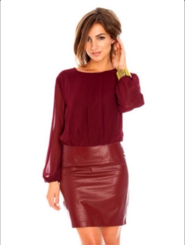 Oxblood PU Dress - UK 8 - BNWOT - Fashion Blogger & Celebrity Favourite