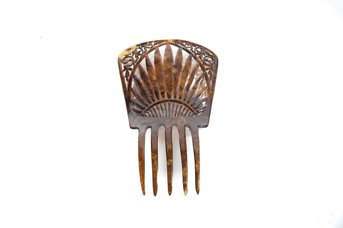 Antique Spanish Hair Comb Mantilla in Collectibles, Vanity, Perfume & Shaving, Combs, Brushes | eBay
